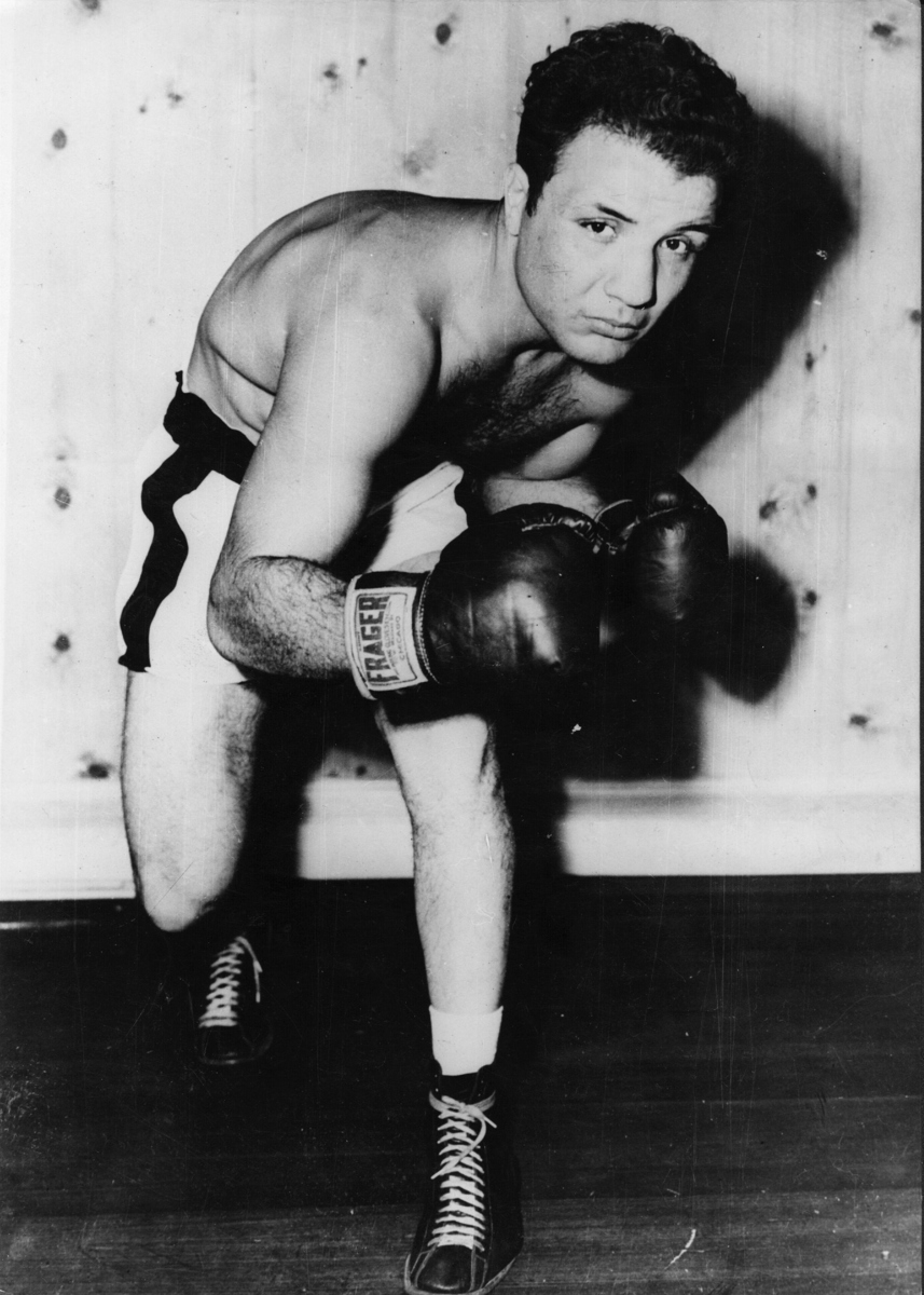 Jake La Motta, in training to meet Marcel Cerdan