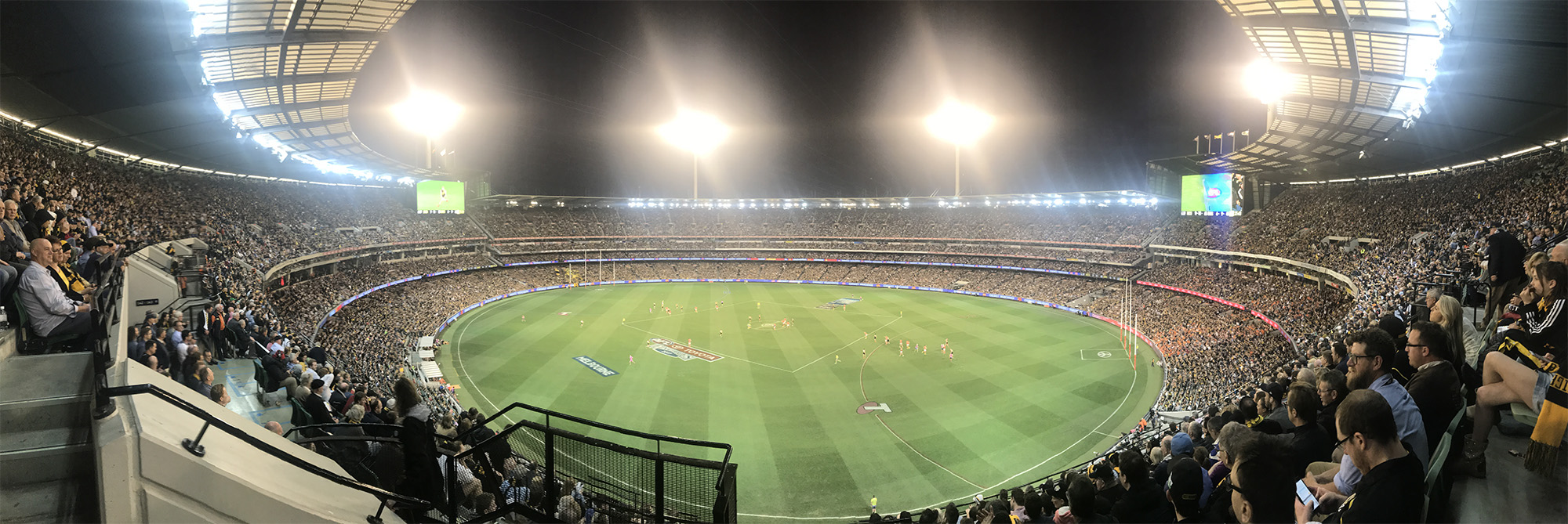 The MCG during the Preliminary final between Richmond and GWS