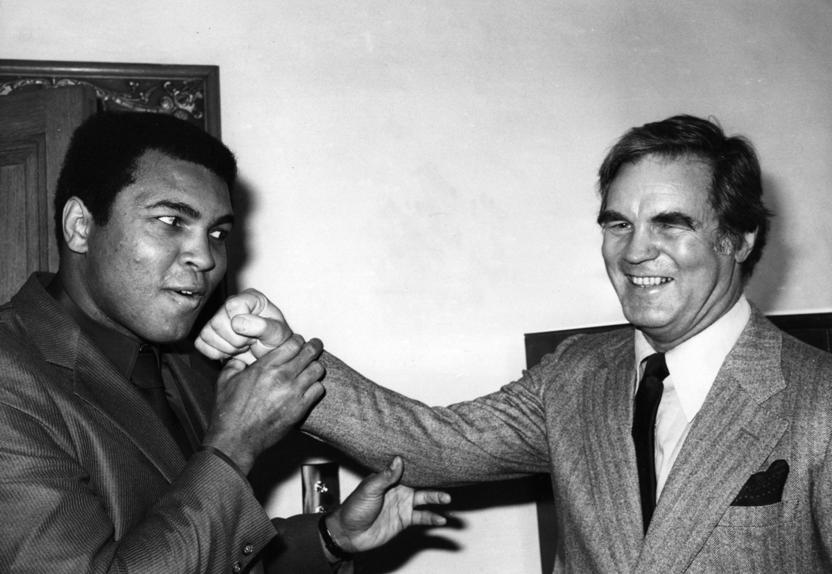 The US boxer and three times world heavyweight champion Muhammad Ali with Tony Madigan Pic: Keystone/Getty Images