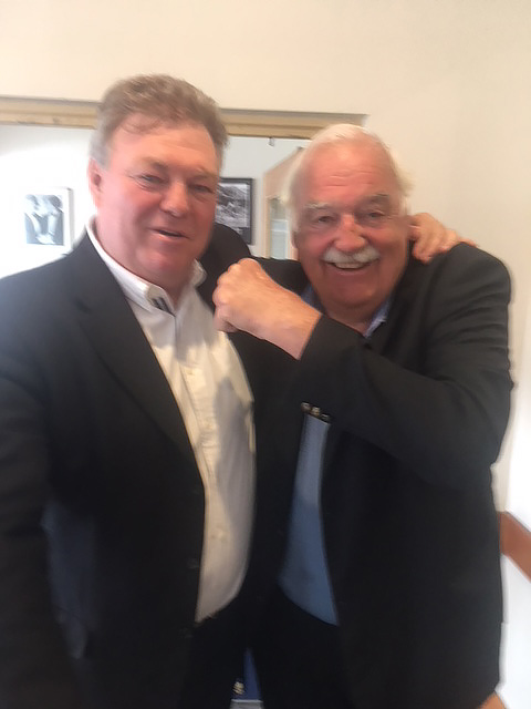 Neil Balme reunites with old opponent Percy Jones