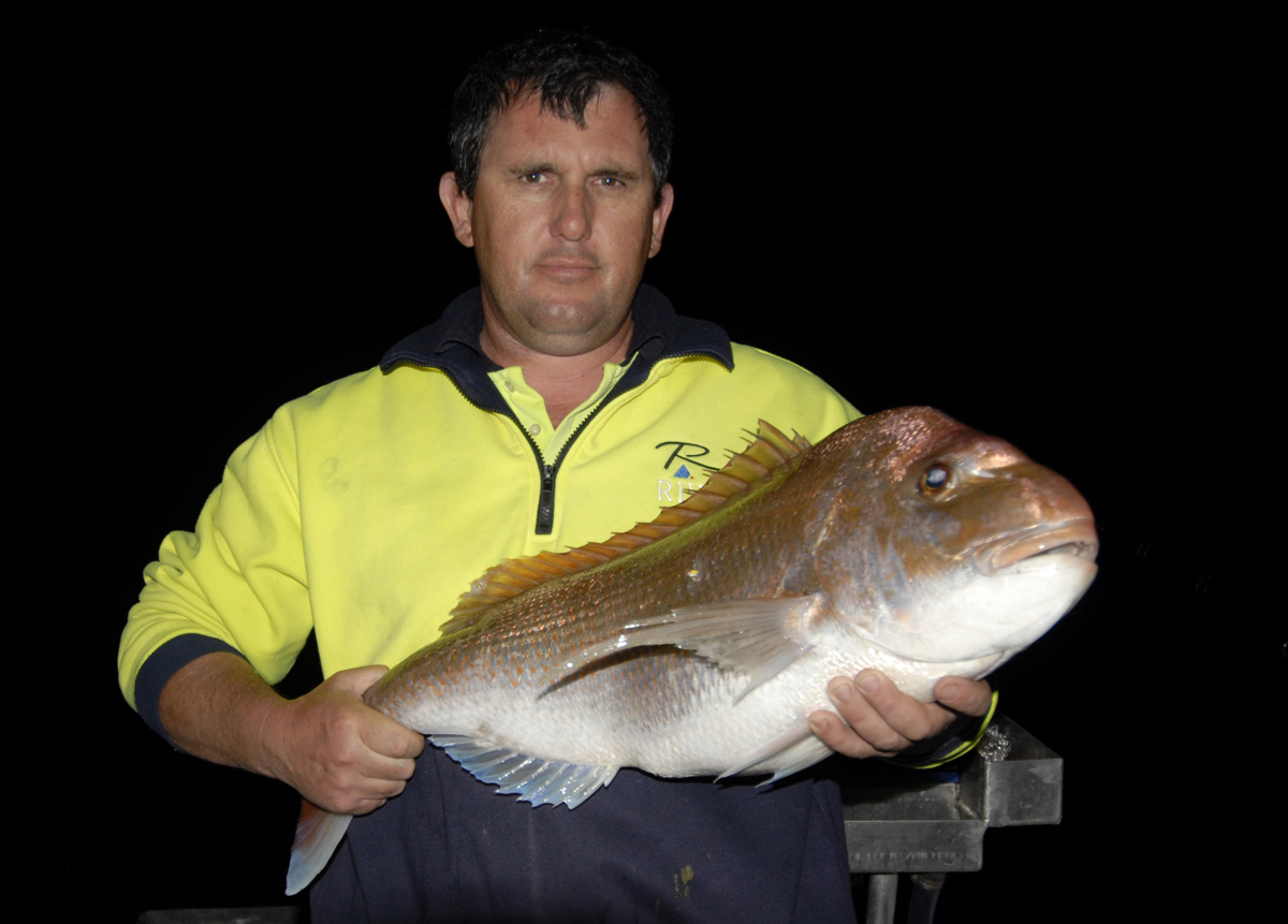 Shane Minge caught this snapper off Portarlington using whiting for bait.