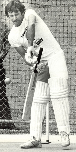 Ian Chappell practising in his WSC gear