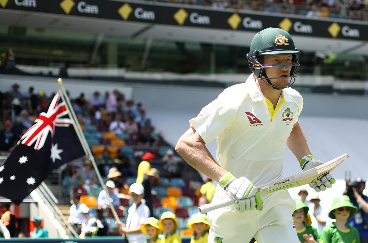 Cameron Bancroft walks out to bat during day two of the First Test Match Pic: Ryan Pierse/Getty Images