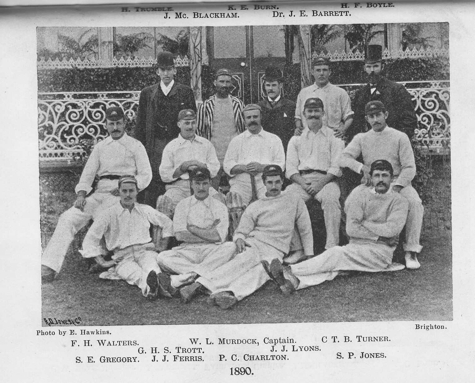 The 1890 Australian Cricket Team.