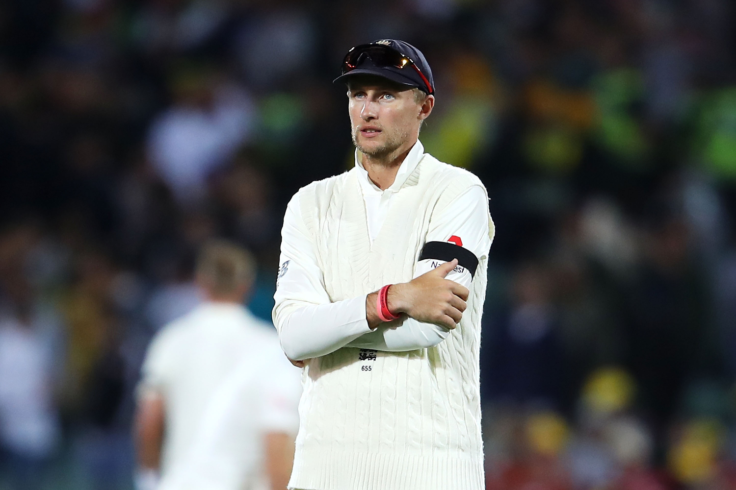 Joe Root of England shows his frustration. Pic: Mark Kolbe/Getty Images
