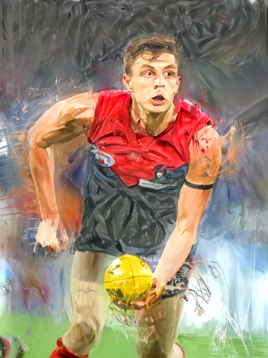 Star recruit Jake Lever -- hope of the side Artwork by Gordon Napier