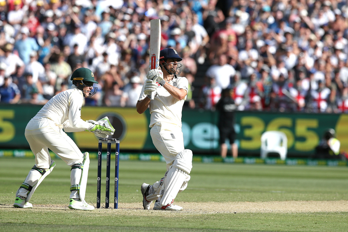 Alastair Cook brings up his century