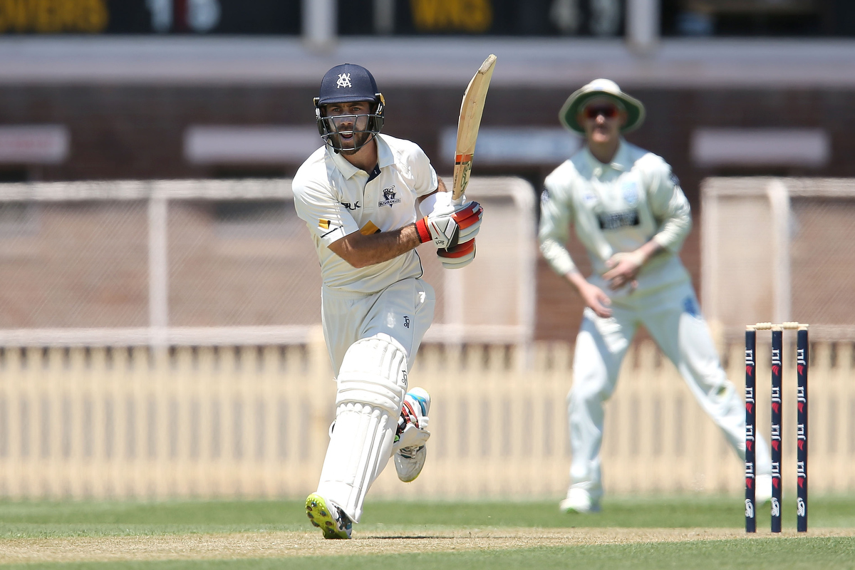 Glenn Maxwell bats during a Sheffield Shield. Ppic: Jason McCawley/Getty Images