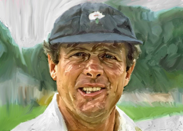 Noose flash from Geoff Boycott. Artwork by Gordon Napier