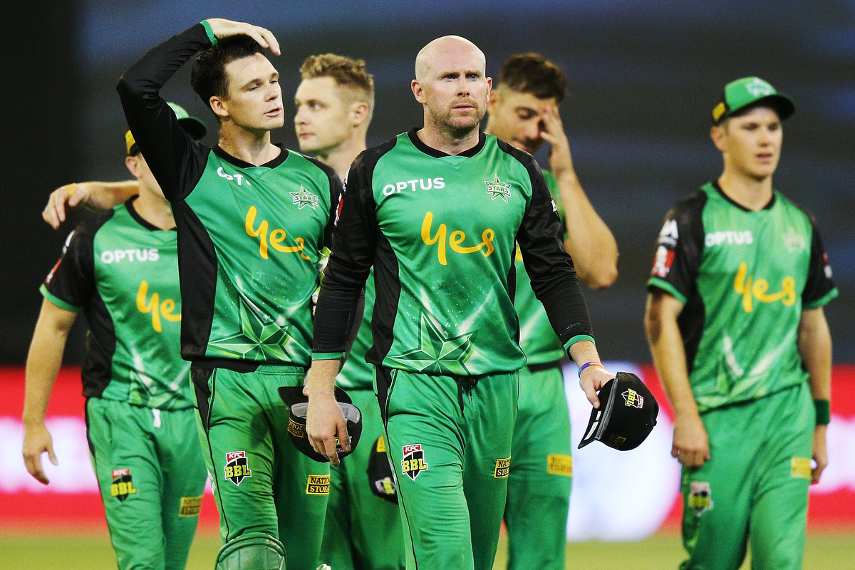 Ben Dunk looks dejected after defeat during the Big Bash League match against the Renegades. Pic: Michael Dodge/Getty Images