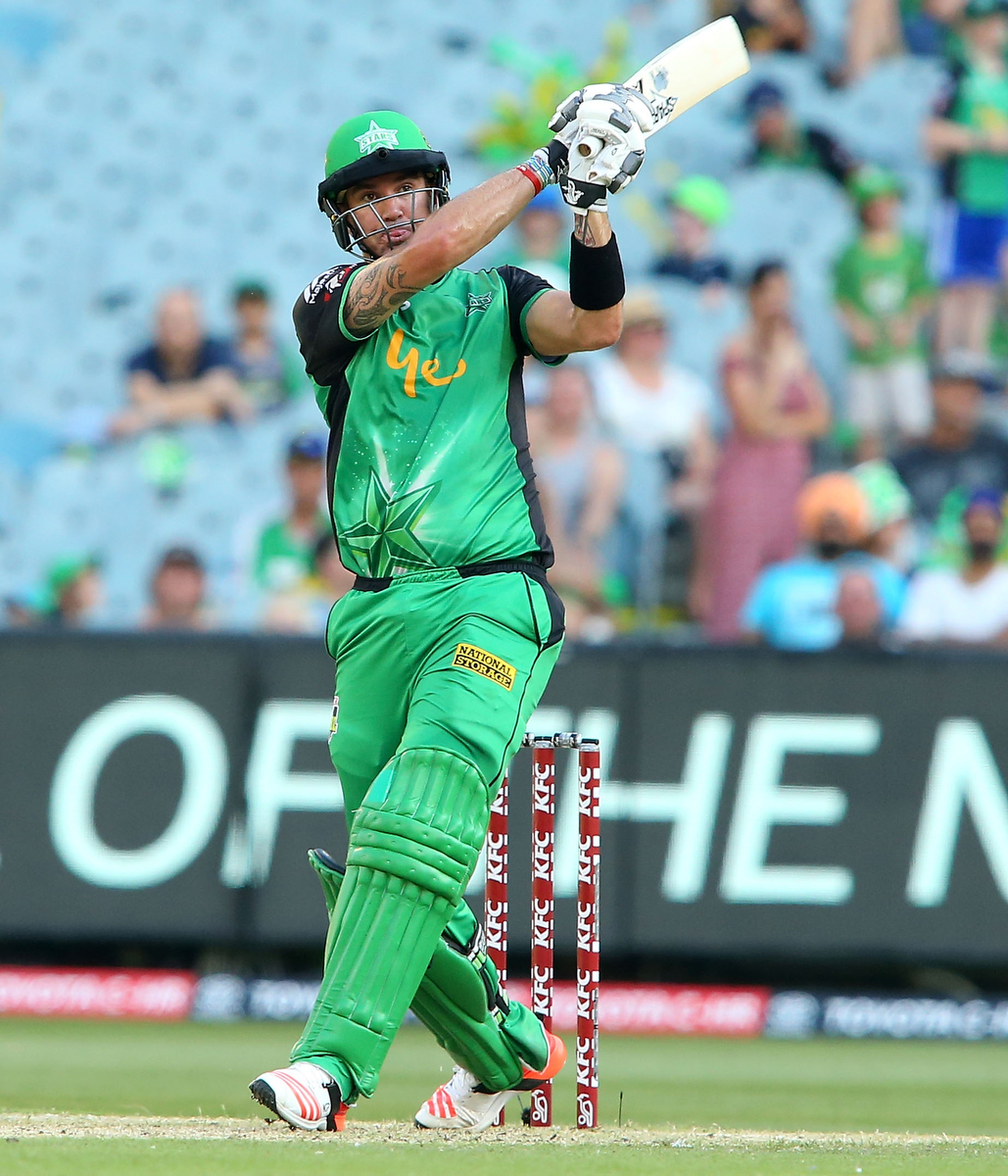 Kevin Pietersen during his last innings with the Stars. Pic: Pat Scala/Getty Images