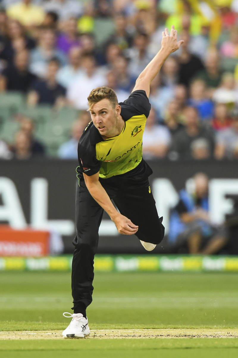 Billy Stanlake in action against England at the MCG. Pic: Morgan Hancock/Action Plus via Getty Images