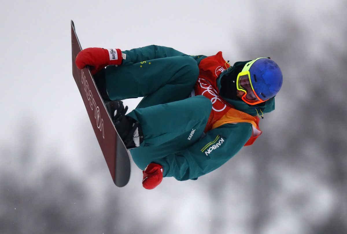 Scotty James on his way to bronze in the Men's Halfpipe. Pic: Cameron Spencer/Getty Images