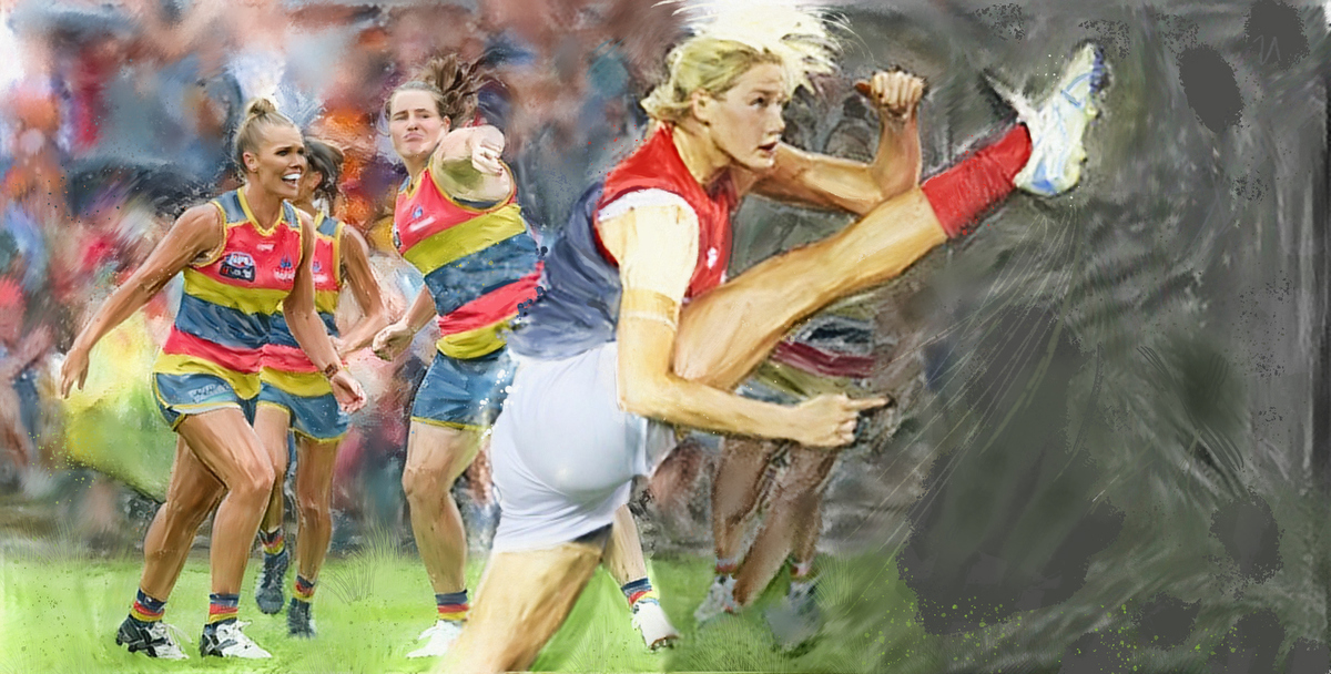Go the Dees! Artwork by Gordon Napier.
