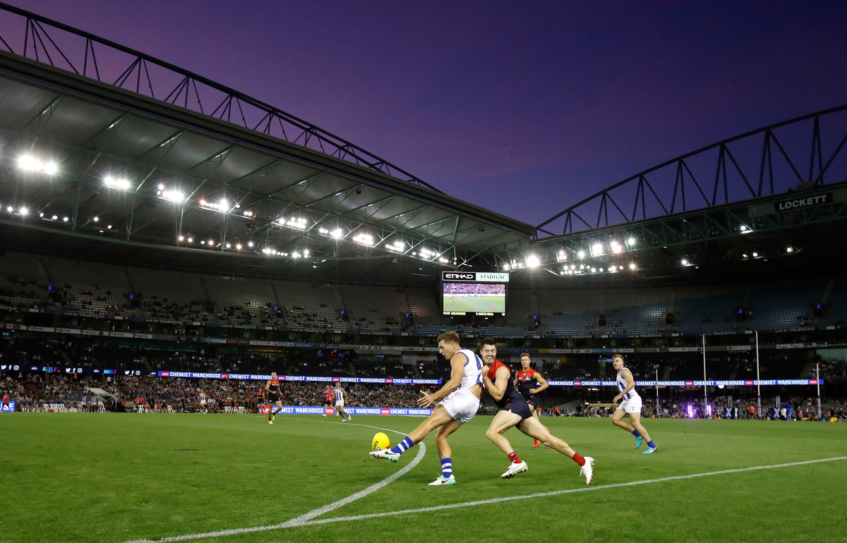Will it last? The AFLX debuts at Etihad Stadium. Pic:Michael Willson/AFL Media/Getty Images