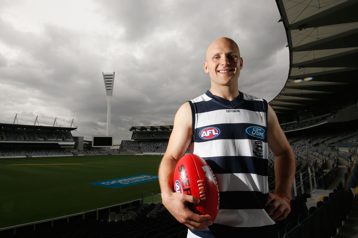 Back in Geelong colours - Gary Ablett. Pic: Darrian Traynor/Getty Images