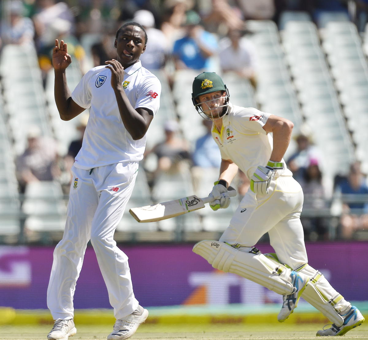 Kagiso Rabada during day 2 of the 3rd Test match. Pic: Ashley Vlotman/Gallo Images/Getty Images