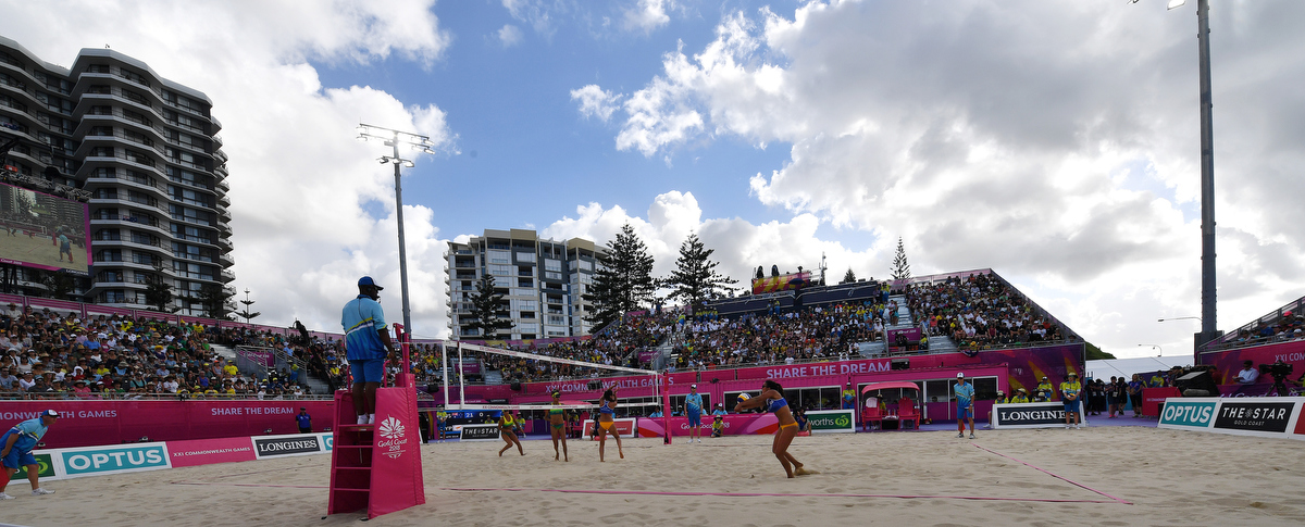 Coolangatta Beach is a perfect location for Beach Volleyball. Pic Nick La Galle