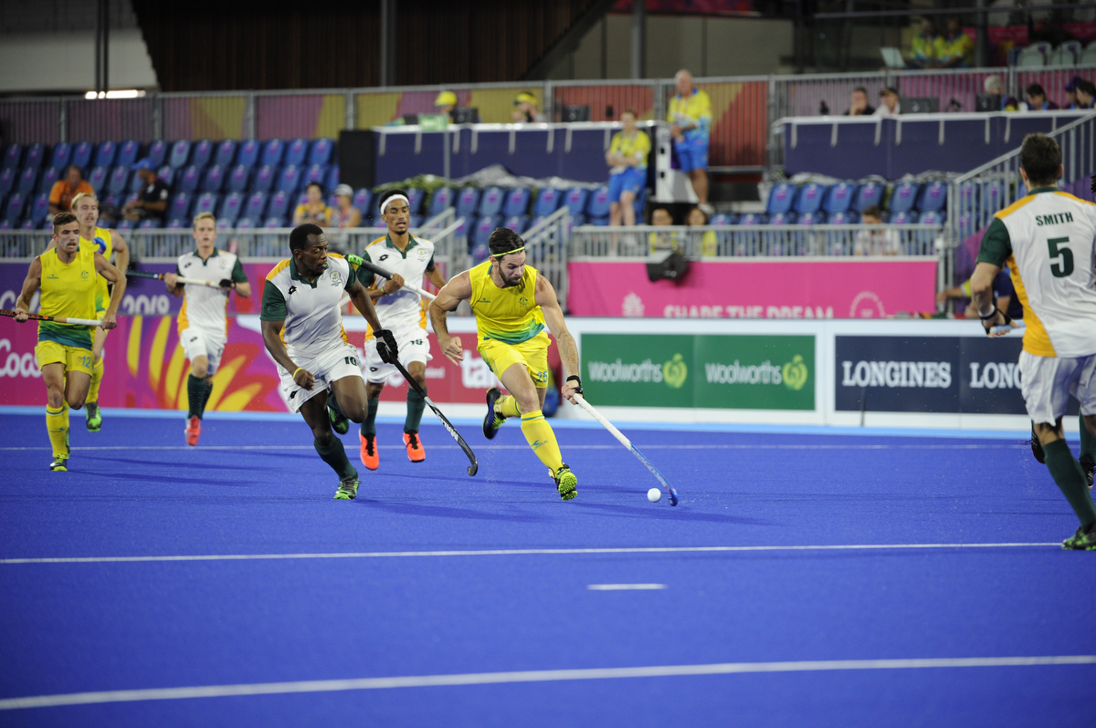 Trent Mitton in action during the Kookaburras win over South Africa. pic: Nick La Galle