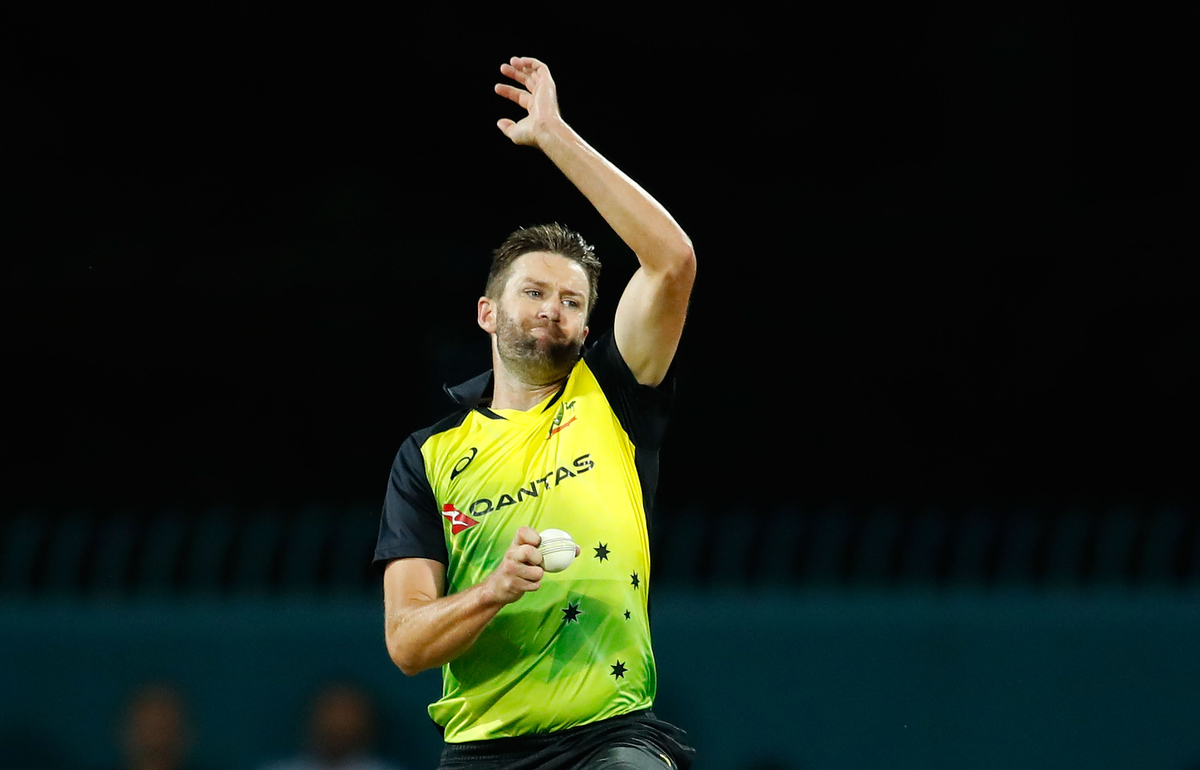 Andrew Tye of Australia bowls during the recent Twenty20 International. Pic: Scott Barbour/Getty Images