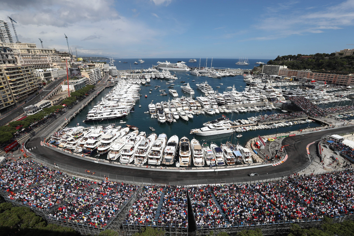 Lewis Hamilton and Daniel Ricciardo at the Monaco street circuit. Pic: VALERY HACHE/AFP/Getty Images