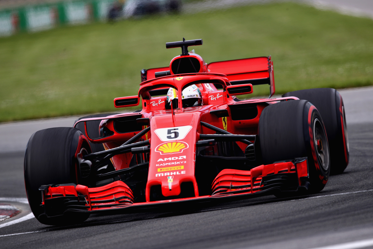 Sebastian Vettel during the Canadian Grand Prix. Pic: Mark Thompson/Getty Images