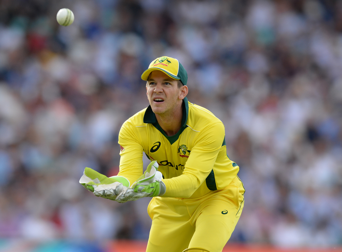 Tim Paine during the firstOne-Day against England. Pic: Philip Brown/Getty Images