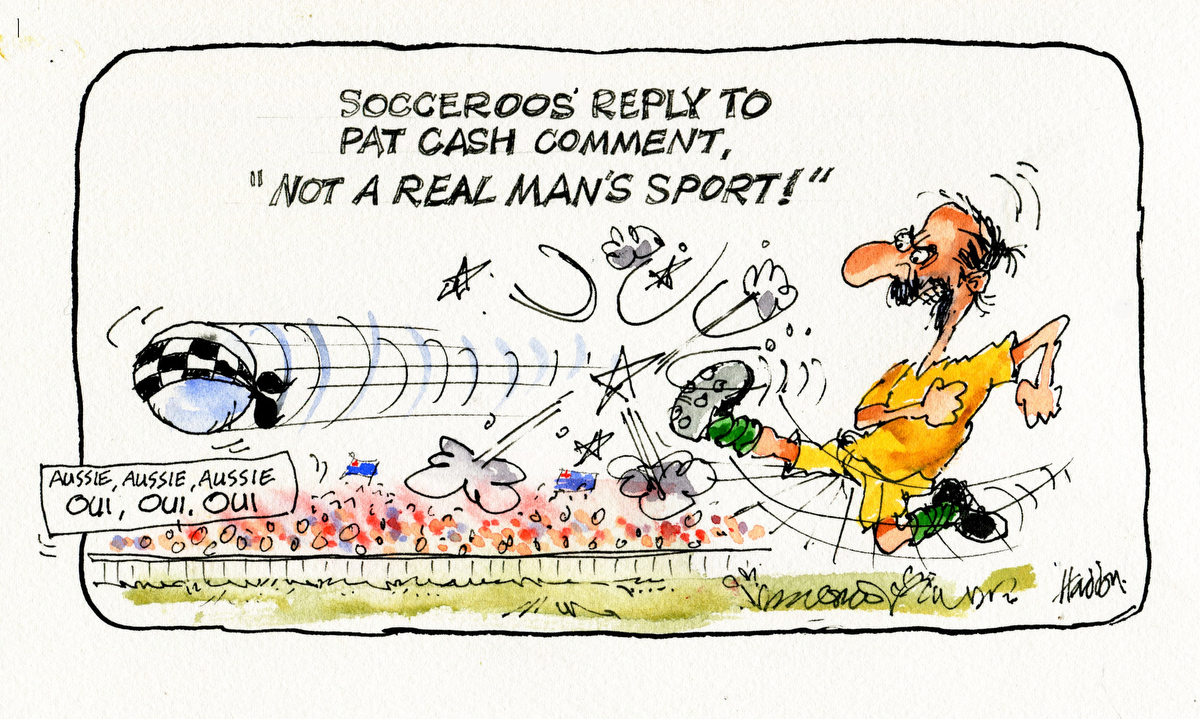 George Haddon on the match between Pat Cash and the Socceroos
