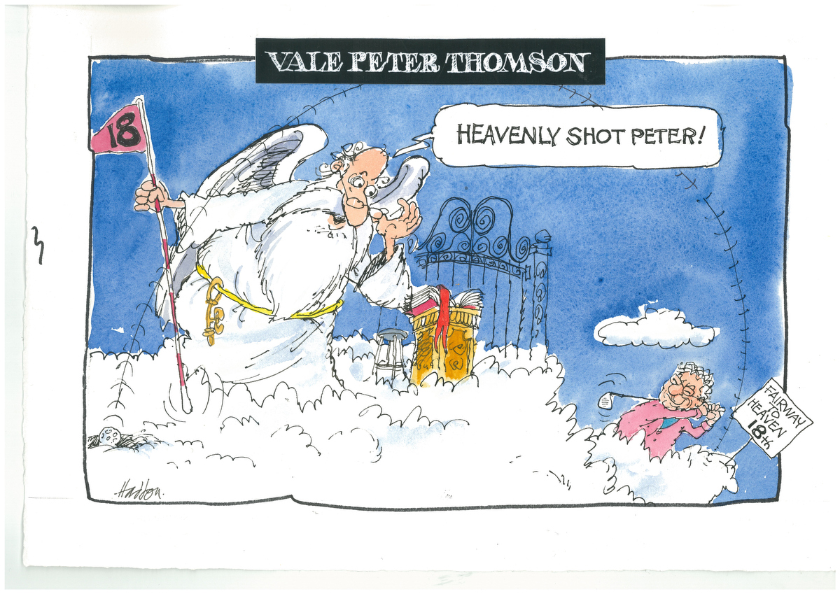 George Haddon farewells Peter Thomson