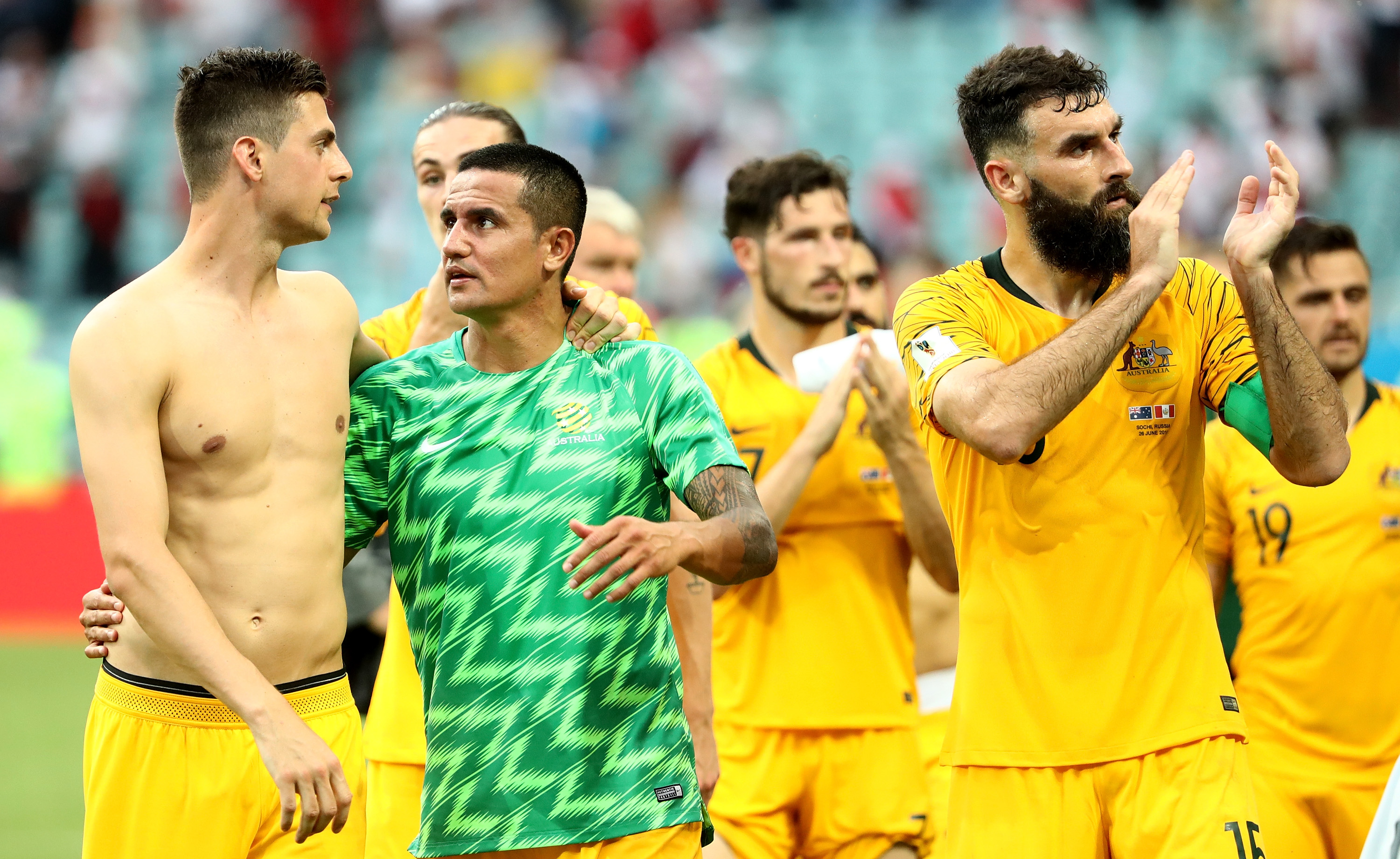 A World Cup anticlimax. the Socceroos will have to try again in 4 years. Pic: Robert Cianflone/Getty Images