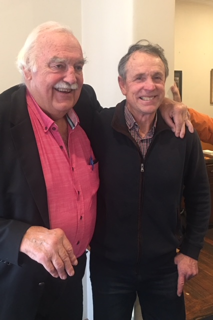 Two Great Warriors, Percy Jones (L) & Terry Daniher.