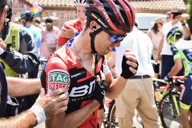 Richie PORTE after his accident. Pic Vaz Juchima