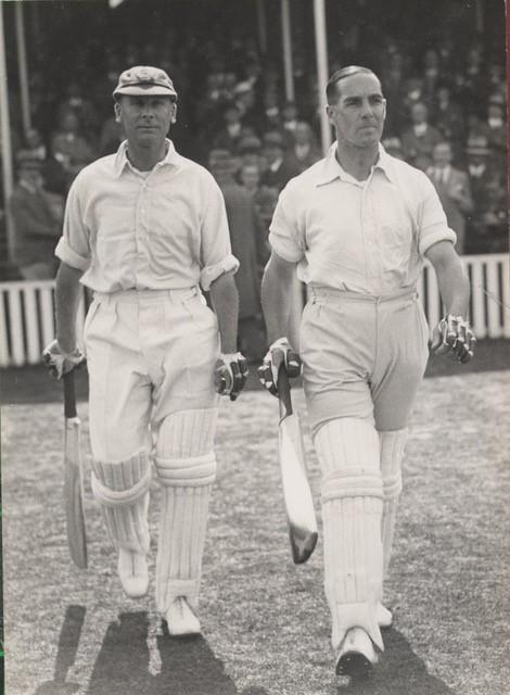 Jack Hobbs (left) and Herbert Sutcliffe, England's outstanding opening pair.