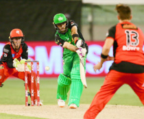 Glenn Maxwell in Action against the Renegades. Pic: Kathy Watt