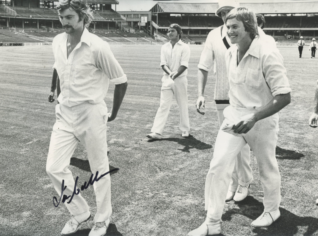 "From left: Callen leads off his mates, ""Sam"" Broad, Max Walker (obscured) and Trevor Laughlin."