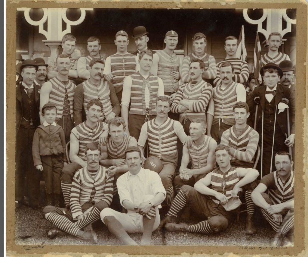Geelong Football Club Team at Corio Oval 1895