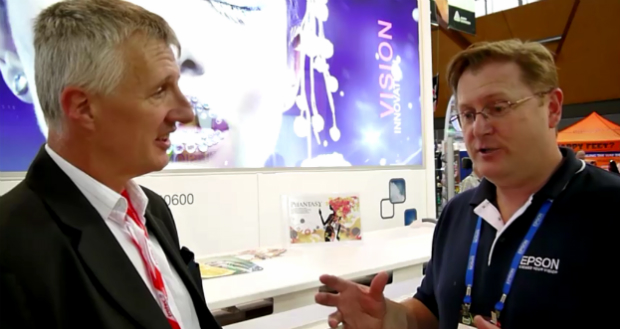 VIIE Video: Epson shows poster and textile print - Sprinter