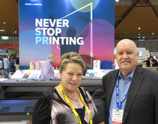 Konica Minolta shows labels and HP Latex printers