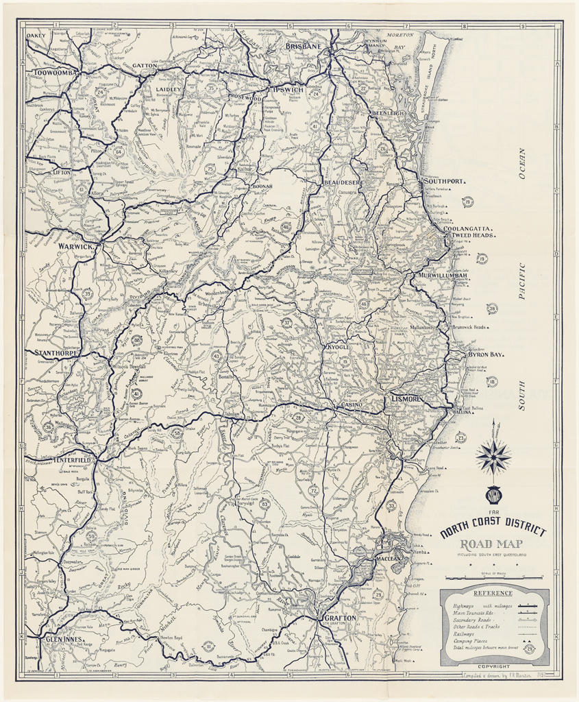 NRMA North Coast District road map including South East Queensland