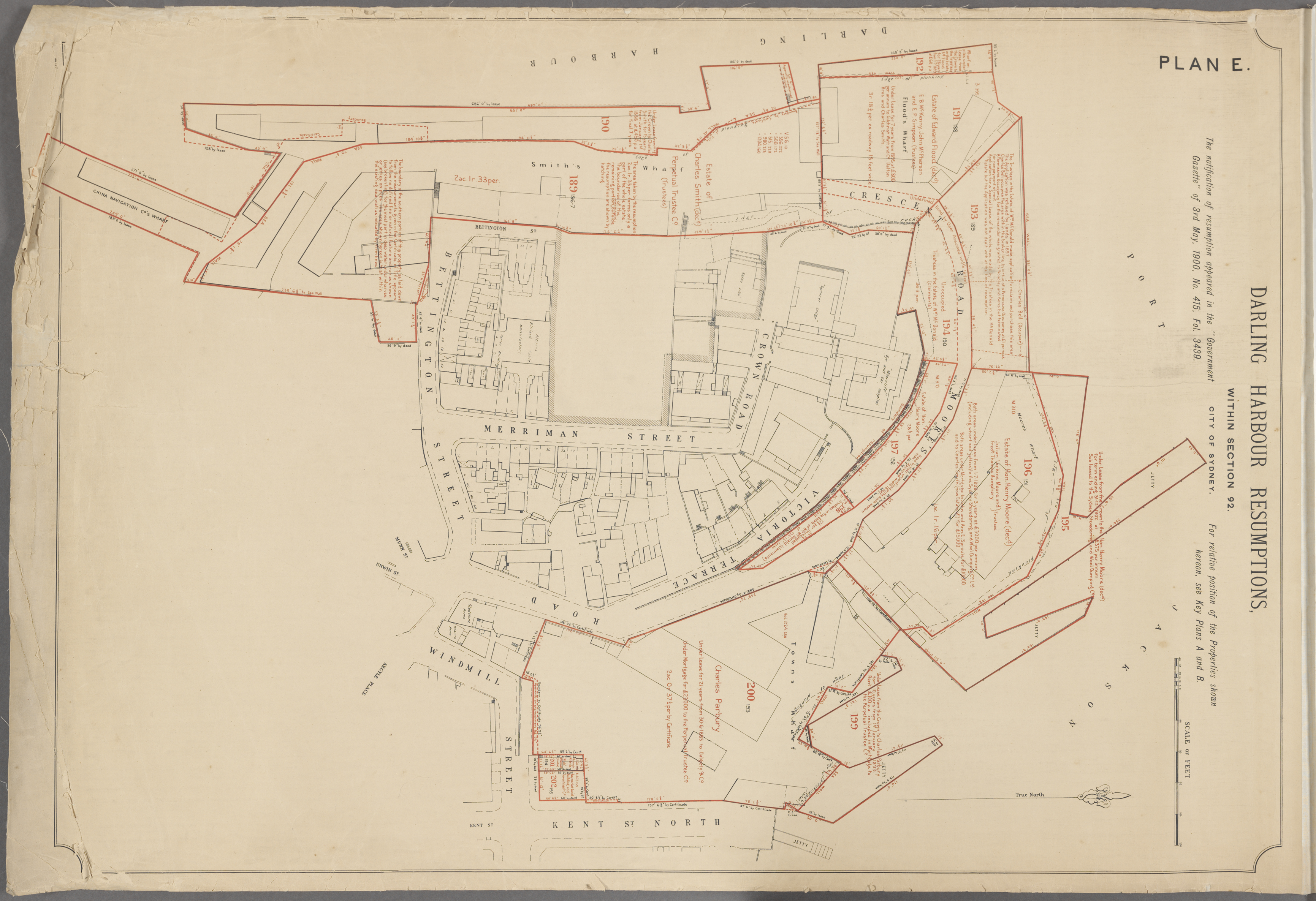 Darling Harbour resumption maps NSW State Archives