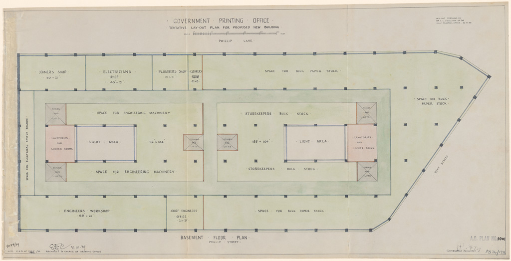 Plans of public buildings nsw state archives for Building plan printing