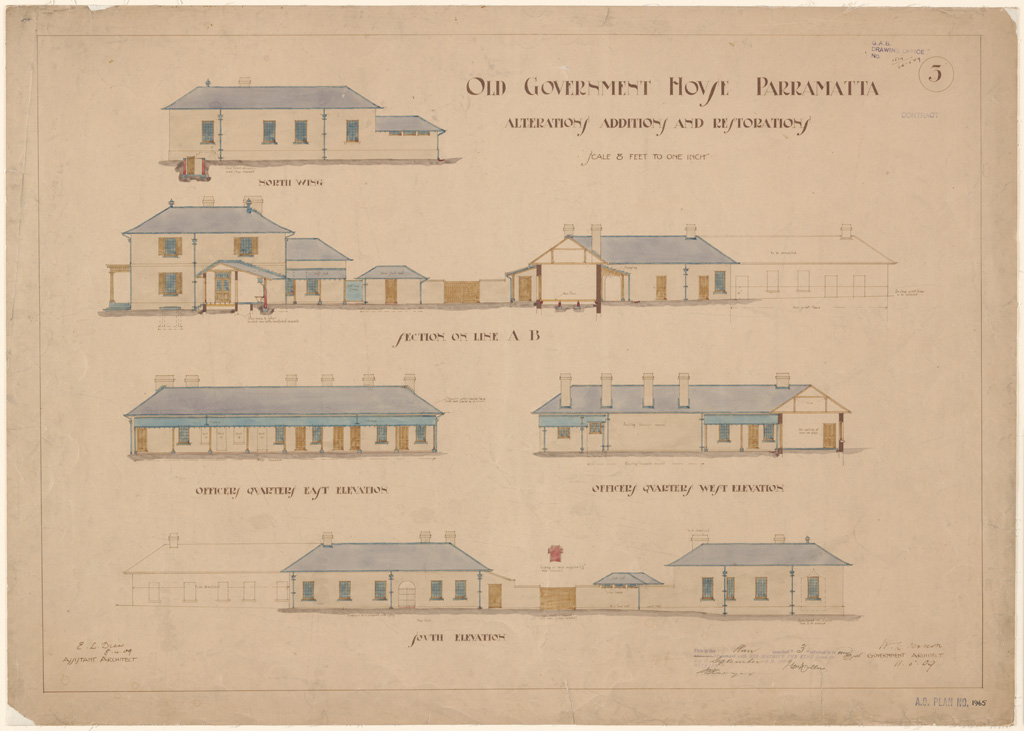 Plans of public buildings nsw state archives for Classic house records