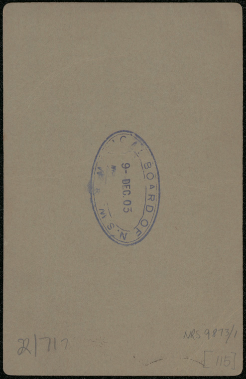 Photograph of Albert Theophilus Duka doctor [reverse]