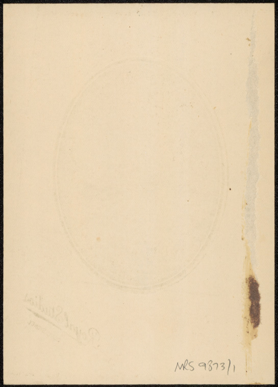 Photograph of Percy Murray Curtis doctor [reverse]