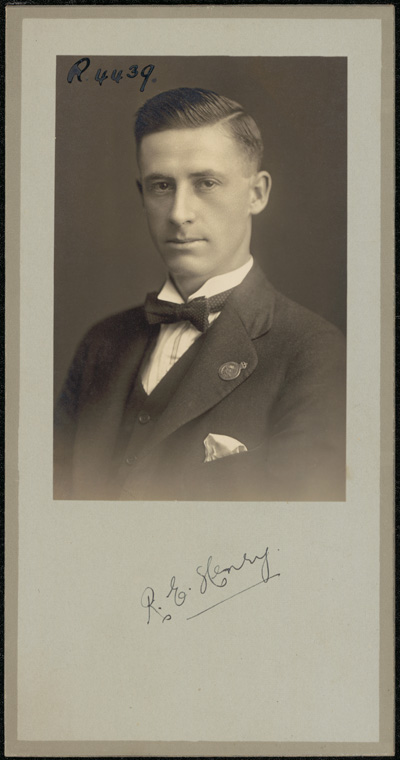 Photograph of Robert Eric Henry doctor
