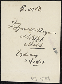 Photograph of David Tyrrell Keyes doctor [reverse]