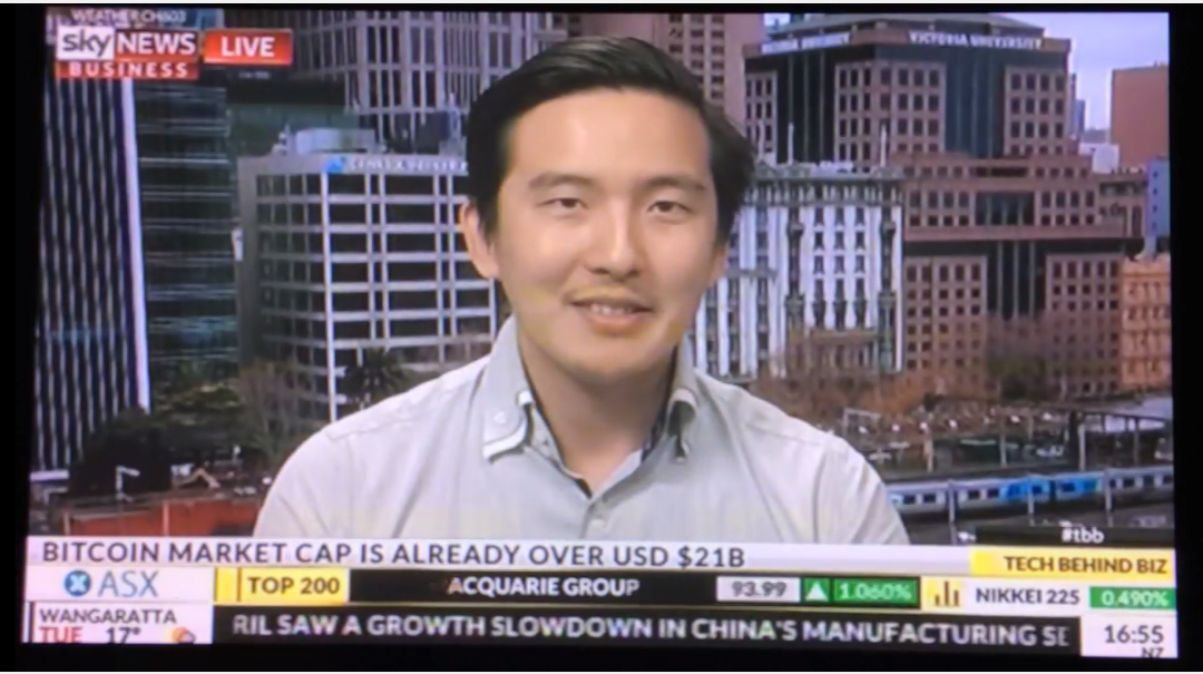 Blockchain Global CEO Sam Lee interviewed on Sky News Business
