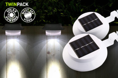 3-LED Portable Solar Lights 2-Pack