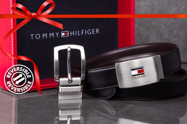 Tommy Hilfiger Reversible Leather Belt Gift Pack