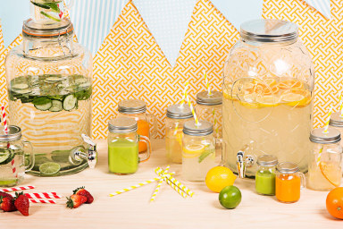 Mason Jars & Drink Dispensers